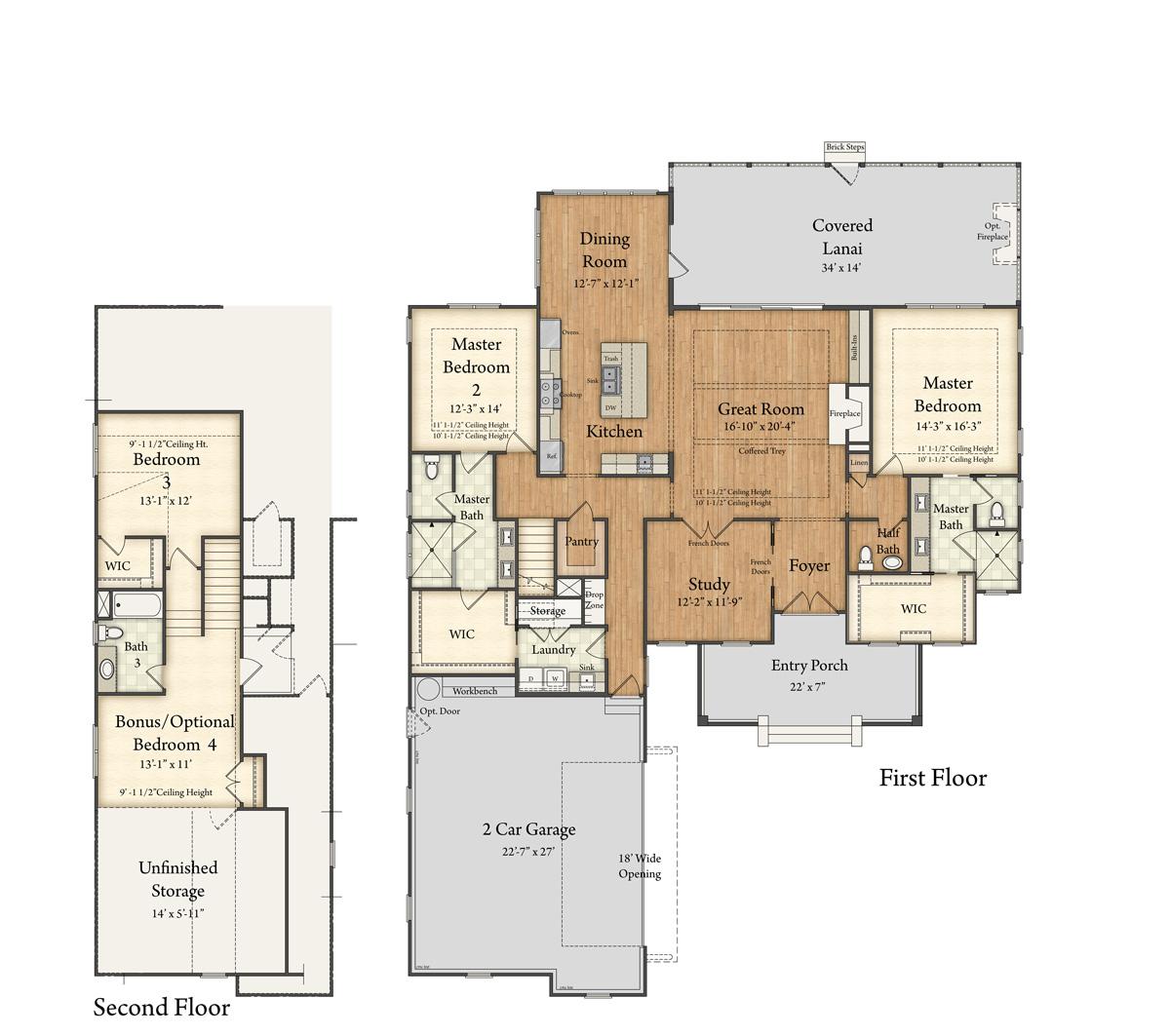 Lancaster Model Floor Plan