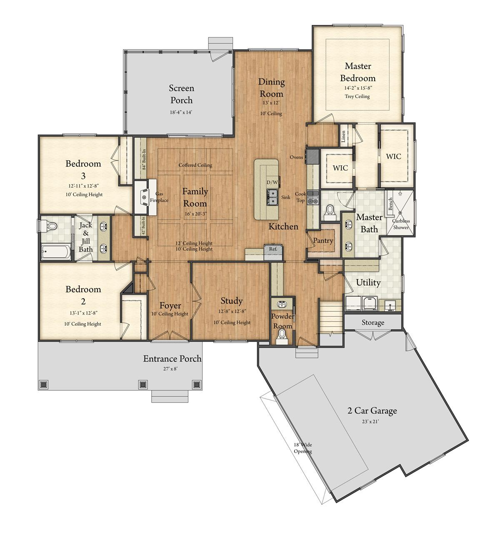 Willimsburg Model Floor Plan