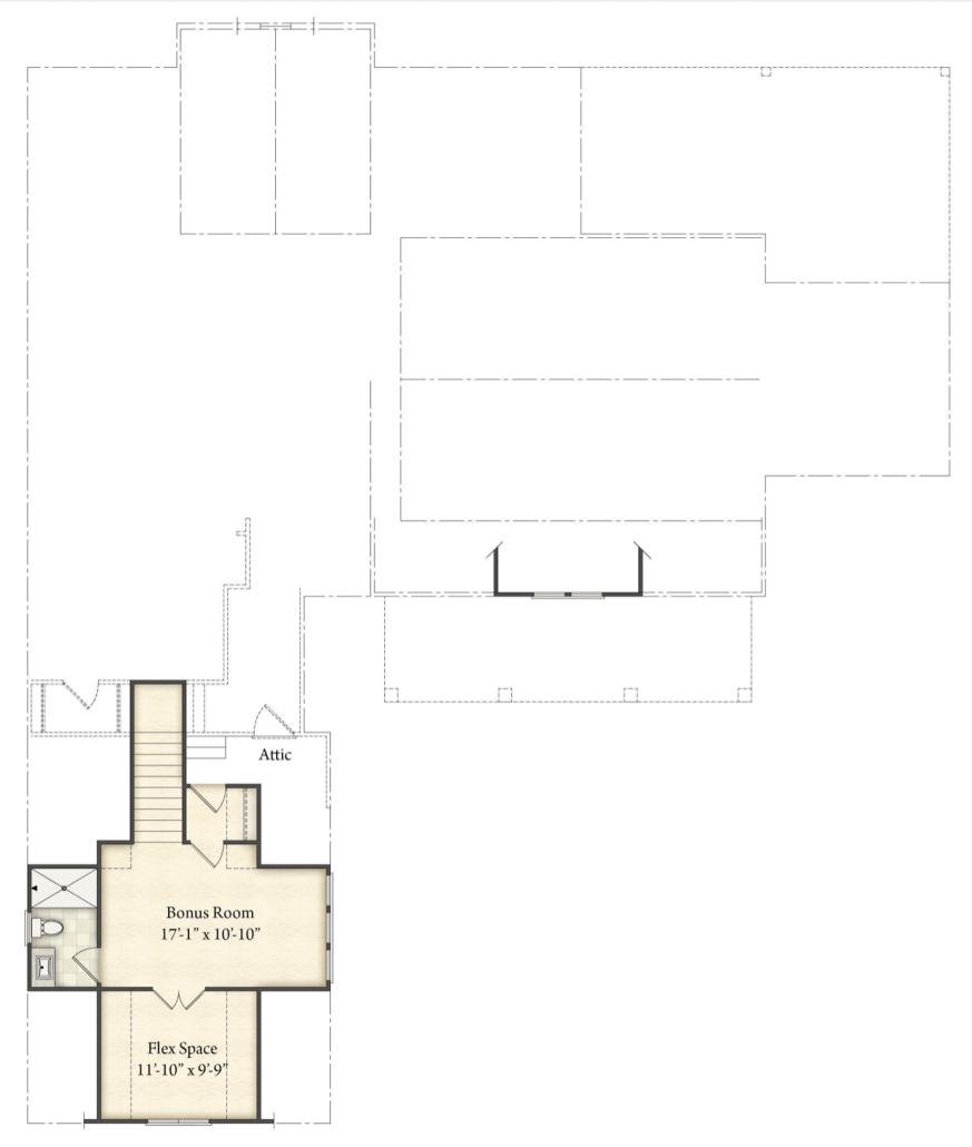 Del Ray Model Home Floor Plan - RiverBrook Builders