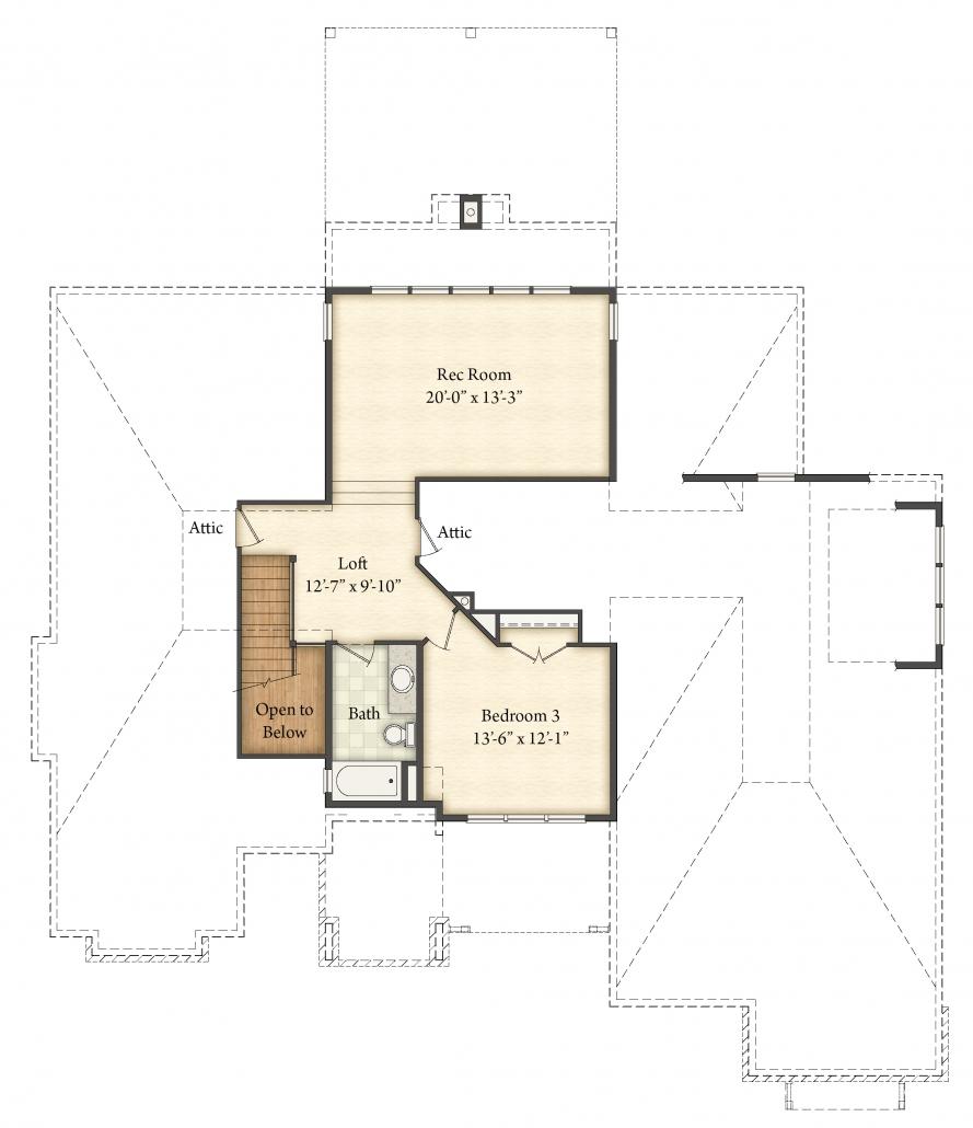 Arlington Floor Plan - Second Floor